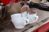 Coffee machine making coffee — Stockfoto