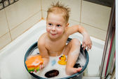 Little boy is bathed in the tub — Stock Photo