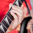 Man playing electric guitar — Stock Photo