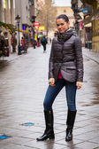 Woman on Budapest street — Foto de Stock