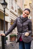Woman in Budapest street — Foto de Stock