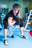 Man exercising with dumbbells — Stock Photo