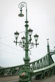 Streetlight on the Liberty Bridge — Stock Photo