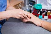 Spa manicure making — Zdjęcie stockowe