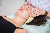 Young woman getting spa treatment. — Stock Photo