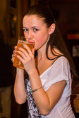 Girl in resataurant — Foto Stock