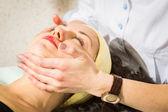 Woman getting spa treatment. — Stock Photo
