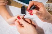 Manicure treatment — 图库照片