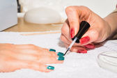 Process of manicure — Foto Stock