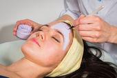 Obličejové masky léčba — Stock fotografie