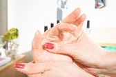 Spa manicure procedure — Stock Photo