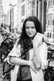Girl in city — Stock Photo