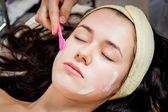 Facial cosmetology treatment — Stock Photo