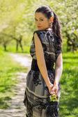 Brunette woman — Stock Photo