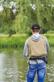 Человек рыбалки — Стоковое фото