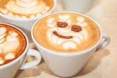 Cups of cappuccino — Stock Photo