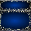 Frame christmas card on a blue background with stars — Stock Photo