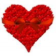 Heart made of hearts for a Valentine's Day with red bow — Stock Photo #39896577