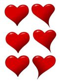 Hearts icons for a Valentine's Day — Stock Photo