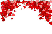 Frame of red hearts on a white background for a Valentine's Day — Stockfoto