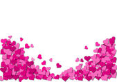 Frame of pink hearts on a white background for a Valentine's Day — Stock Photo