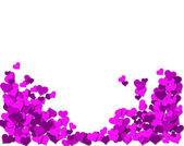 Frame of purple hearts on a white background for a Valentine's Day — Stockfoto