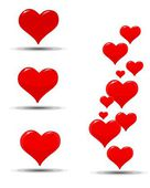 Hearts icons for a Valentine's Day — Stock Vector