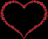 Frame Heart made of hearts for a Valentine's Day or Mother's Day — Stock Photo
