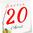 Calendar page with date of Easter-20.04.2014 — Stock Photo