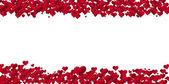Banner of hearts for holidays — Stock Photo