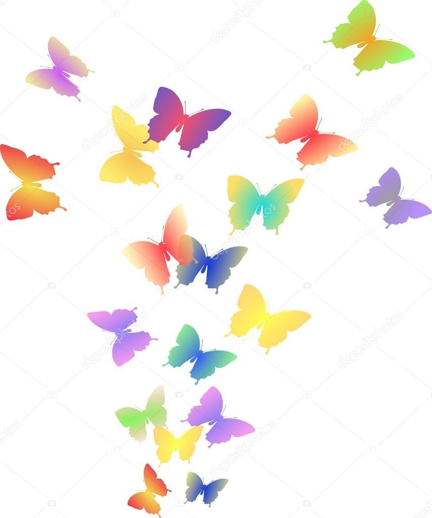 Illustrazione di volo di farfalle colorate foto stock for Foto farfalle colorate