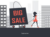 Big sale promotion illustration — Stock Vector