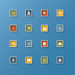 Simple icons for basic webdesign — Stock Vector