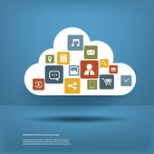 Cloud computing concept design layout — Stock Vector