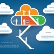 Cloud computing infographics illustration vector — Stock Vector #50450901
