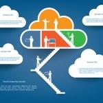 Cloud computing infographics illustration vector — Stock Vector