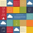 Cloud computing infographics illustration vector — Stock Vector #50451333