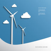 Wind energy infographics or presentation — Stock Vector