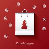 Christmas shopping vector illustration — Stock Vector