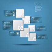 инфографика и веб-элементы векторной иллюстрации с пространством для текста — Cтоковый вектор