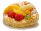 Puff pastry with fruit — Stock Photo