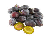 Fresh plums - one cut - optional — Stock Photo