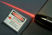 Red Laser Light — Stock Photo