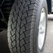 Truck Tire - Showing Tread — Stock Photo