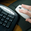Using Computer Mouse — Stock Photo