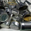 Steel Food Cans for Recycling — Stock Photo