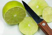 Sliced Lime Fruit — Stock Photo