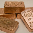 Stock Photo: Copper Bullion Bars