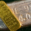 Stock Photo: Gold and Silver Bullion Bars