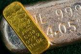 Gold and Silver Bullion Bars — Stock Photo
